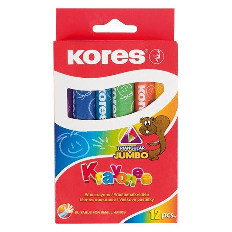 Rasvakriidid Kores Jumbo Krayones , 12 värvi