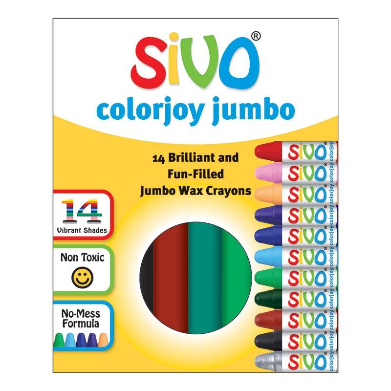 Rasvakriidid SiVO Colorjoy Jumbo, 90mm, 14 värvi
