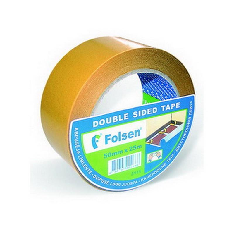Kinnitusteip kahepoolne Folsen 50mm x 10m