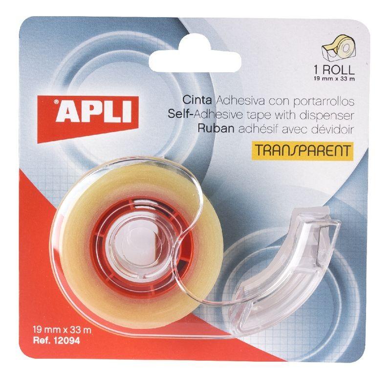 Teibialus Apli + teip 19mmx33m, läbipaistev