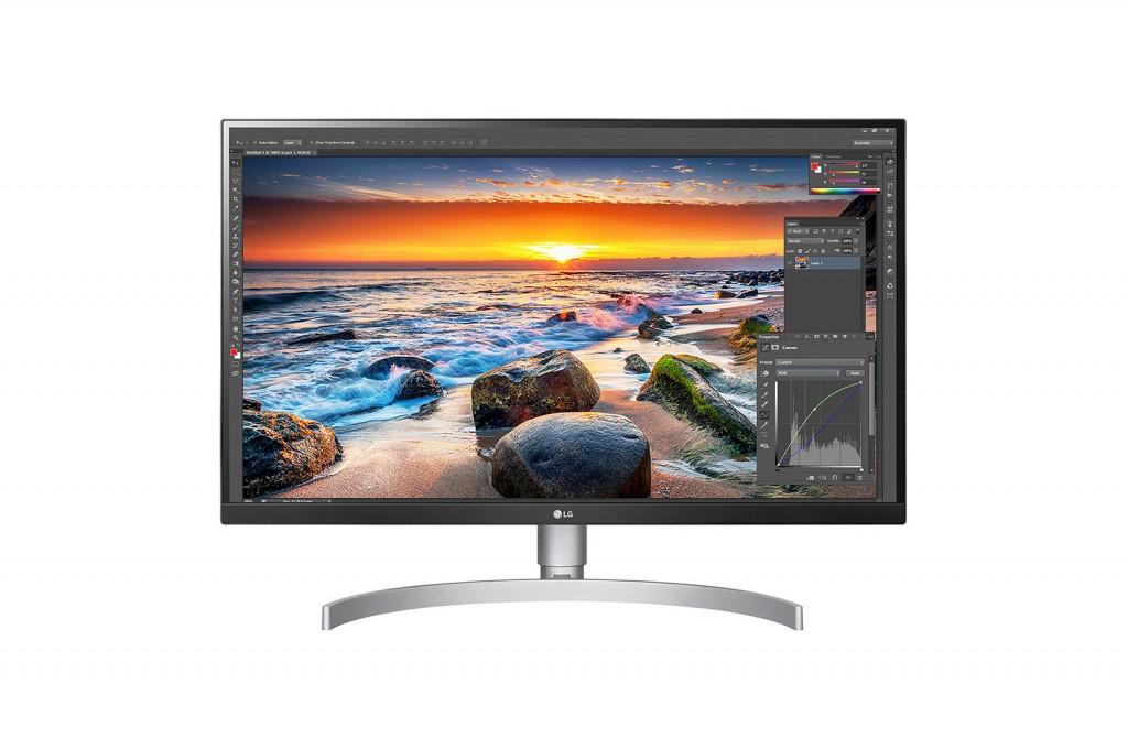 """LG 27UL850-W 27 """", IPS, UHD, 3840 x 2160 pixels, 16:9, 5 ms, 350 cd/m², Silver, 1"""
