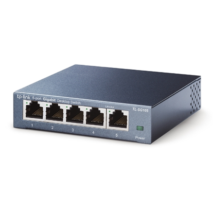 TP-LINK Switch TL-SG105 Unmanaged, Desktop, 1 Gbps (RJ-45) ports quantity 5, Power supply type External