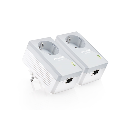 TP-LINK Powerline Adapters Kit TL-PA4010P KIT Ethernet LAN (RJ-45) ports 1x10/100, Data transfer rate (max) 600 Mbit/s, Extra socket Yes