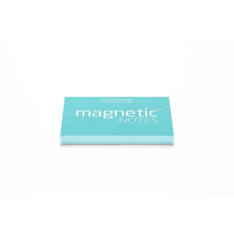 Märkmepaber staatiline Tesla Amazing Magnetic Notes Aqua, 70x50 mm, 100 lehte