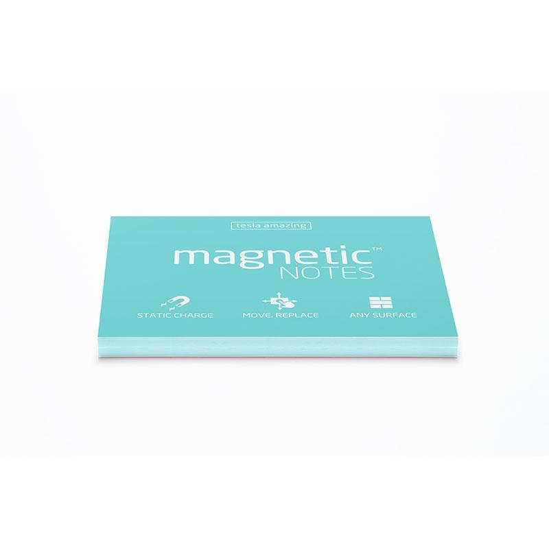 Märkmepaber staatiline Tesla Amazing Magnetic Notes Aqua, 100x70mm, 100 lehte