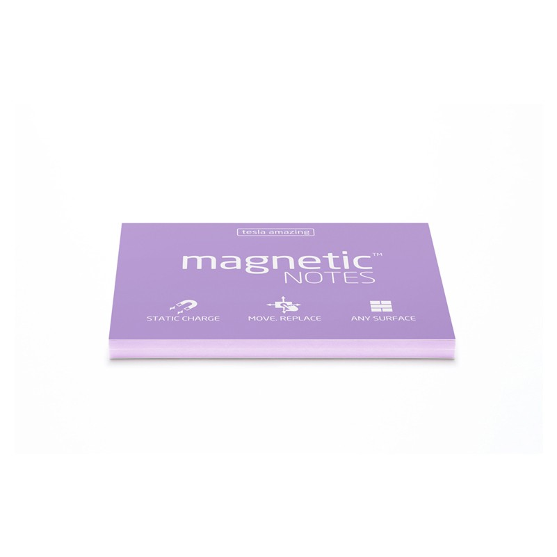 Märkmepaber staatiline Tesla Amazing Magnetic Notes Pearl, 100x70mm, 100 lehte
