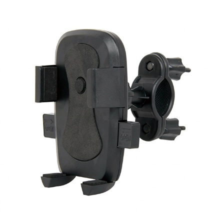 "Gembird TA-BH-01 6 "", Universal smartphone bicycle holder, Black, Adjustable,"