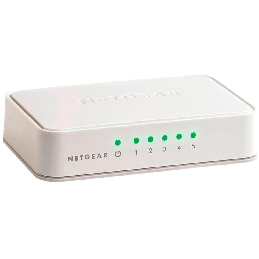 Netgear 5x 10/100/1000 ProSafe switch, plastic casing, external power supply