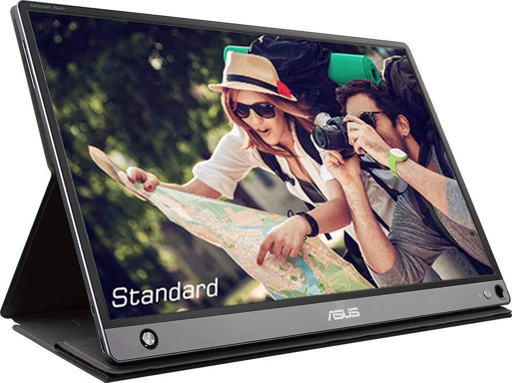 "Asus MB16AMT 15.6 "", Touchscreen, IPS, FHD, 16:9, 5 ms, 250 cd/m², Dark gray, HDMI ports quantity 1"