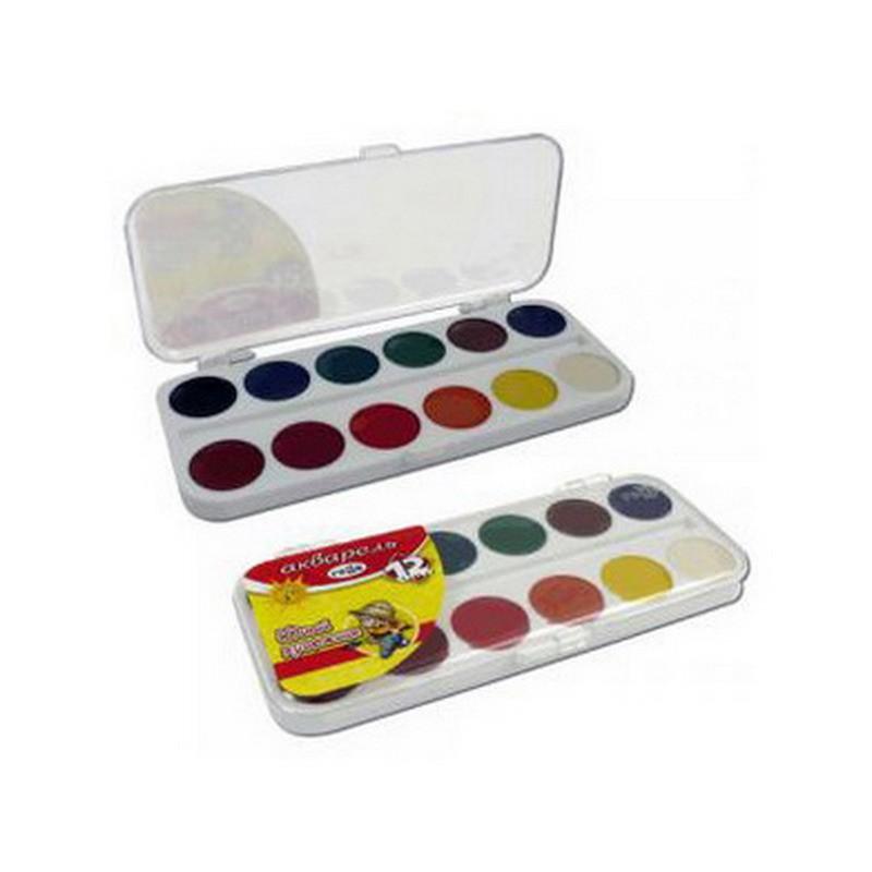 Vesivärvid Gamma Multenes ilma pintslita, 12 värvi