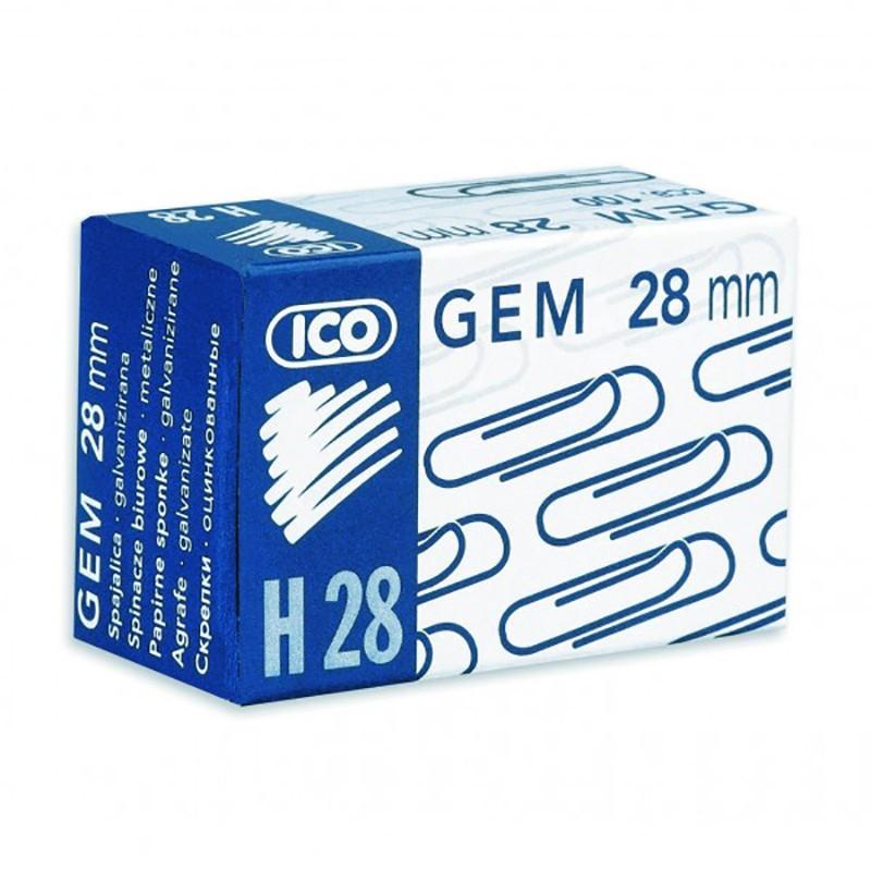Kirjaklambrid Ico 28mm, 100 tk