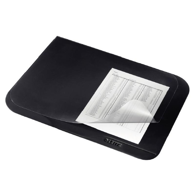 Lauamatt Leitz Premium 40 x 53cm, must, läbipaistva pealiskattega