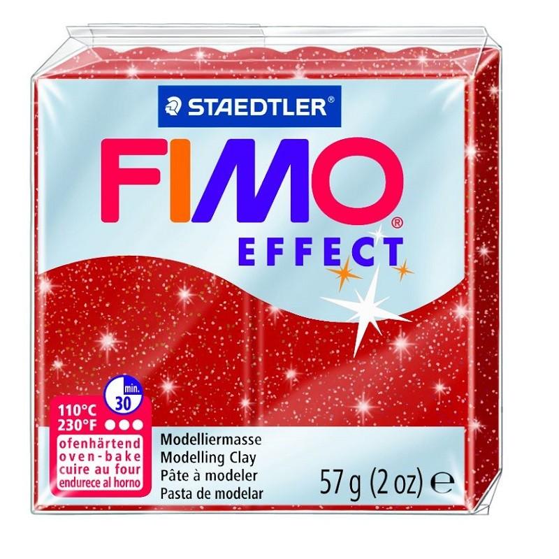 Voolimismass FIMO EFFEKT, 57g, sädelev punane