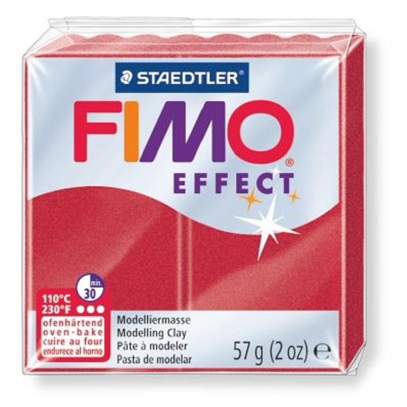 Voolimismass FIMO EFFEKT, 57g, rubiinpunane, metallik
