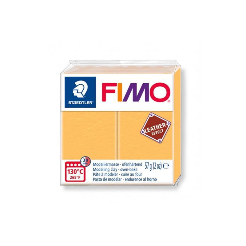 Voolimismass FIMO, naha imitatsioon, 57g, safran kollane