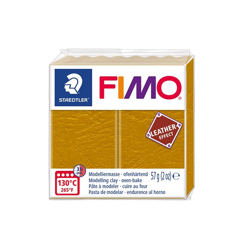 Voolimismass FIMO, naha imitatsioon, 57g, ooker kollane