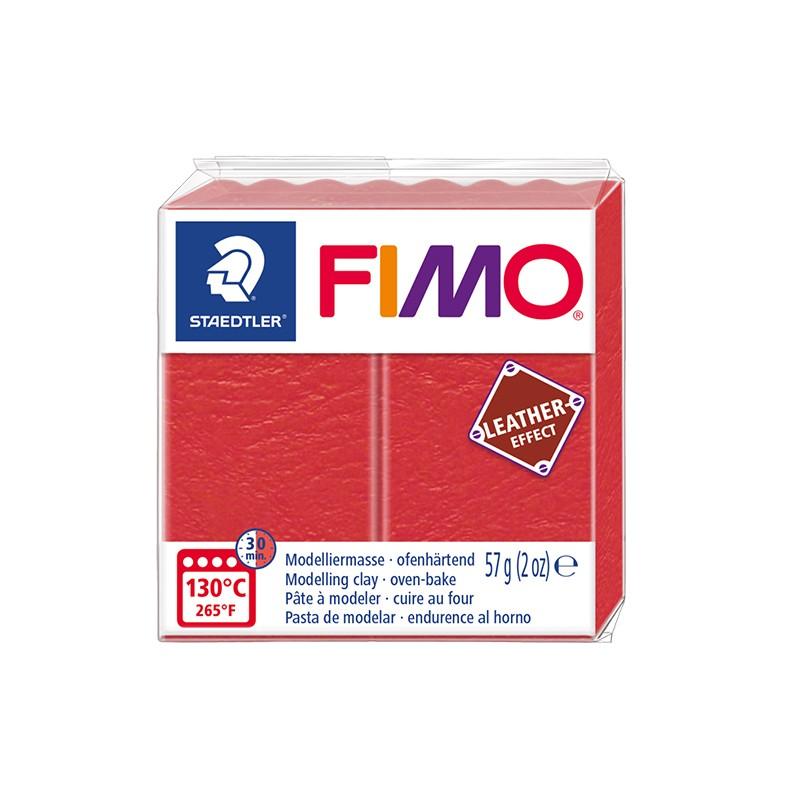 Voolimismass FIMO, naha imitatsioon, 57g, punane