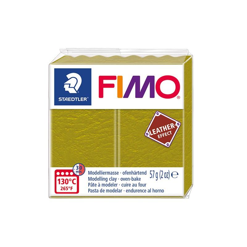 Voolimismass FIMO, naha imitatsioon, 57g, oliiviroheline