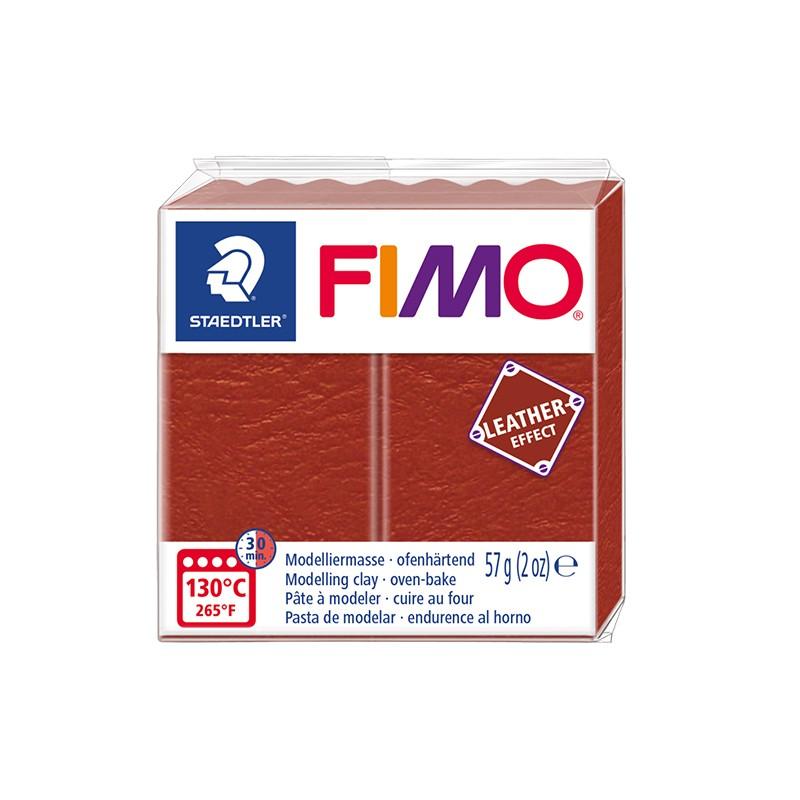 Voolimismass FIMO, naha imitatsioon, 57g, roostepruun