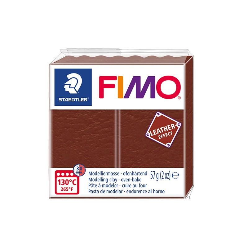 Voolimismass FIMO, naha imitatsioon, 57g,pähklipruun