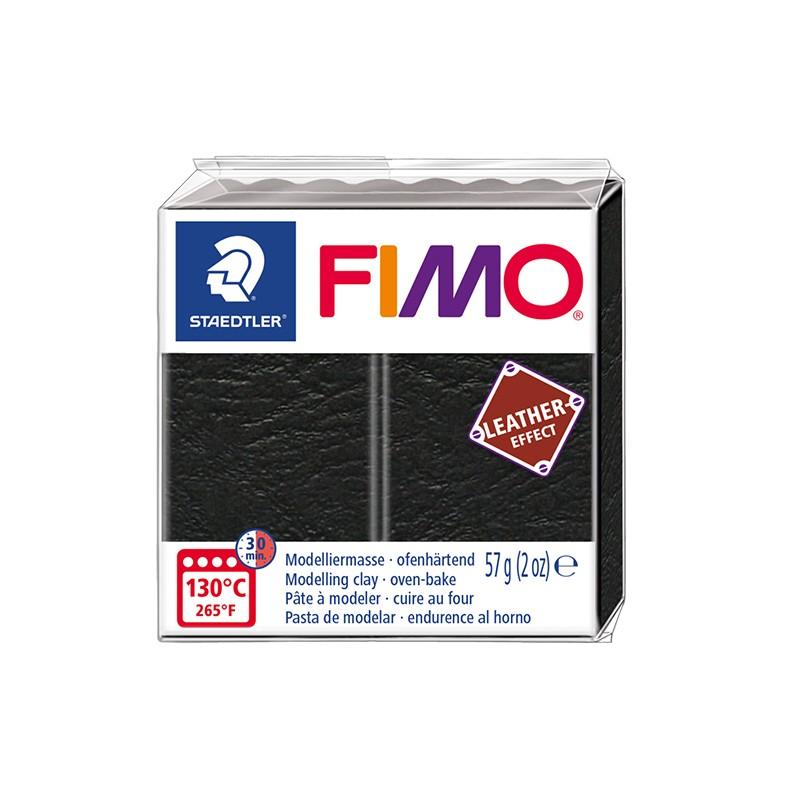Voolimismass FIMO, naha imitatsioon, 57g, must