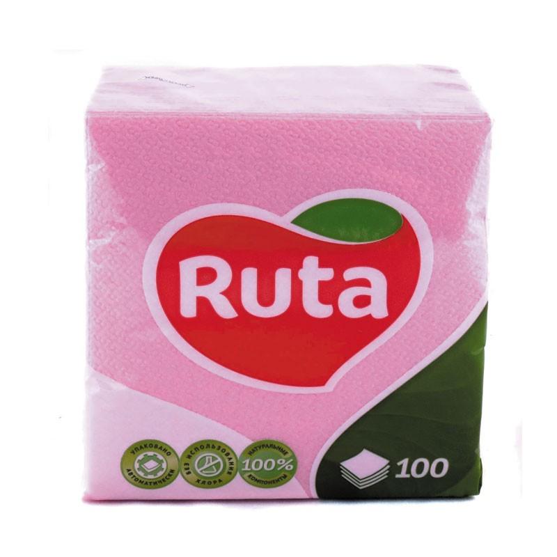 Salvrätikud Ruta, 1-kih, 100 l, 24 x 24 cm, roosa
