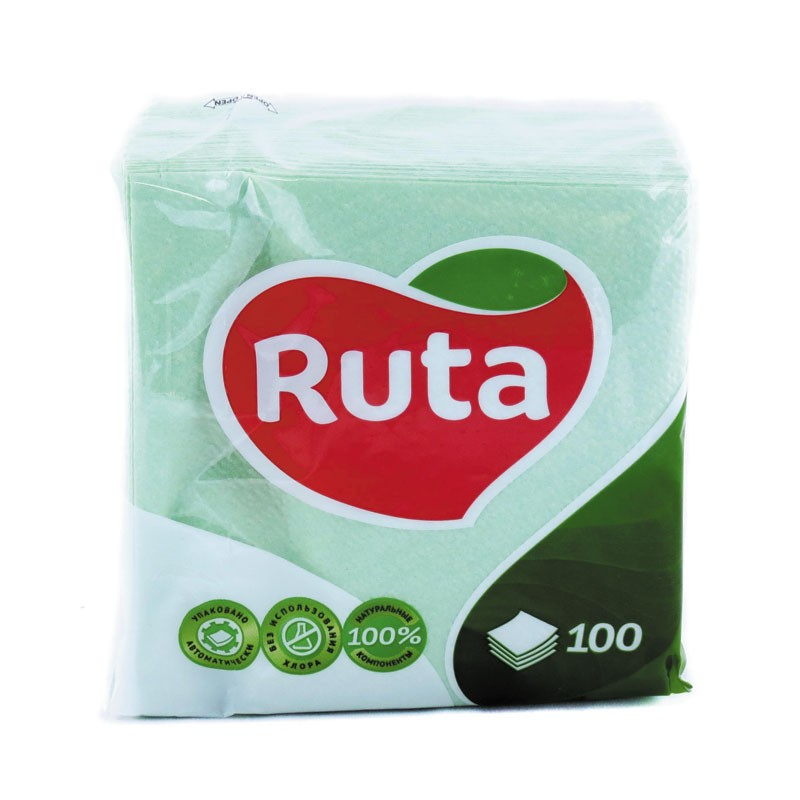Salvrätikud Ruta, 1-kih, 100 l, 24 x 24 cm, roheline