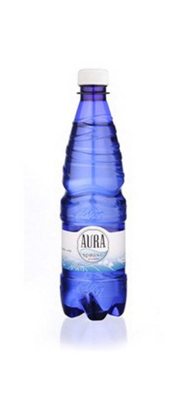 Vesi Aura Spring karboniseerimata 0,5L, plastpudel