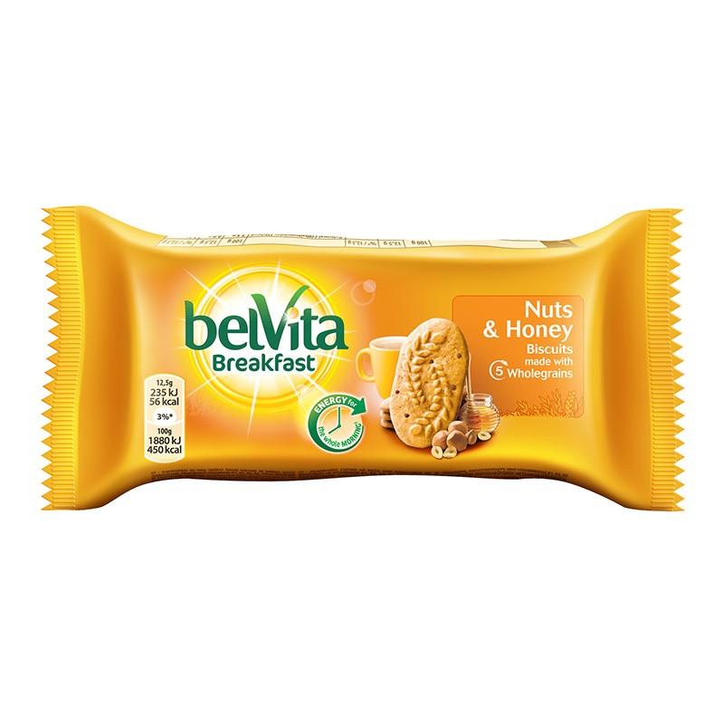 Küpsis Belvita mee ja pähkli, 50g
