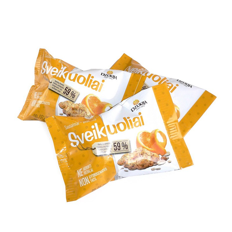 Küpsised DZUKIJA, apelsini tükkidega, 25 g