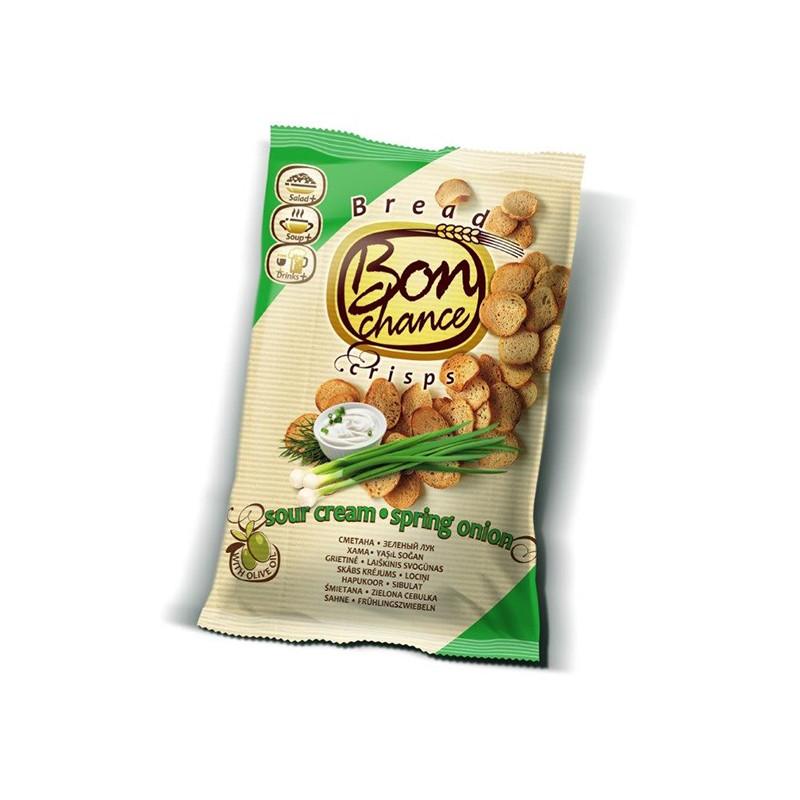 Leivakrõpsud BON CHANCE koore ja sibula, 120 g