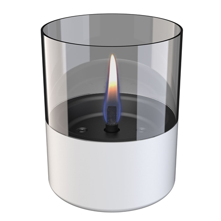 Tenderflame Table burner Lilly 1W Glass Diameter 10 cm, 12 cm, 200 ml, 7 hours, White