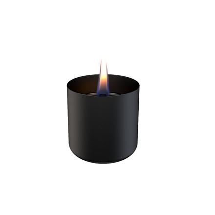 Tenderflame Table burner Lilly 1W Glass Diameter 8 cm, Height 7.5 cm, 150 ml, 4.5 hours, Black