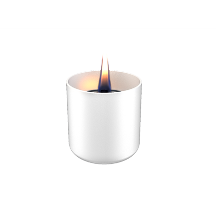 Tenderflame Table burner Lilly 1W Glass Diameter 8 cm, Height 7.5 cm, 150 ml, 4.5 hours, White