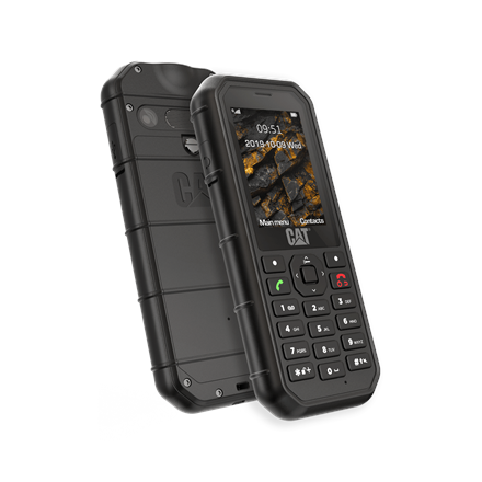 "CAT B26 Black, 2.4 "", TFT, 240 x 320, 8 MB, 8 MB, microSD, Single SIM, Main camera 2 MP, 1500 mAh"