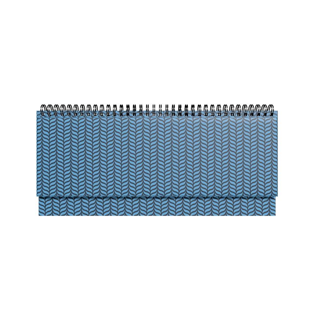 2912856267, Lauakalender PVC metallik sinine