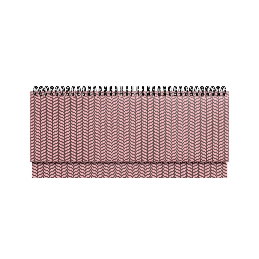 2912856258, Lauakalender PVC metallik roosa