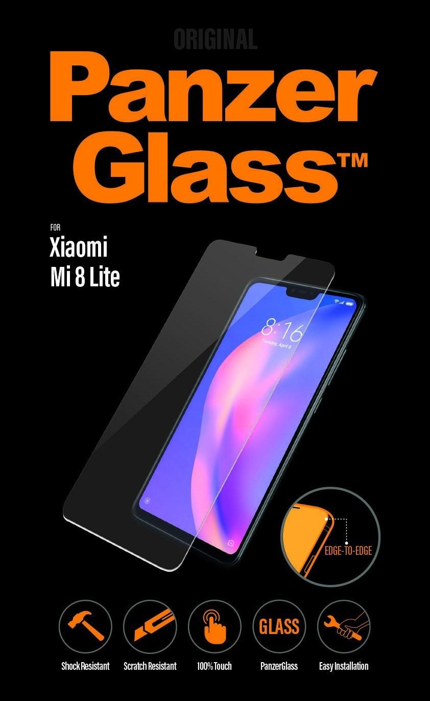 PanzerGlass Screen Protector, Xiaomi Mi 8 Lite, Tempered glass, Transparent