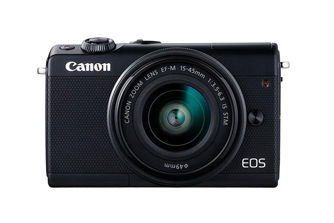 Canon EOS M100 + EF-M 15-45mm IS STM MILC (Peeglita vahetatavate objektiividega kaamera) 24,2 MP CMOS 6000 x 4000 pikslit Must