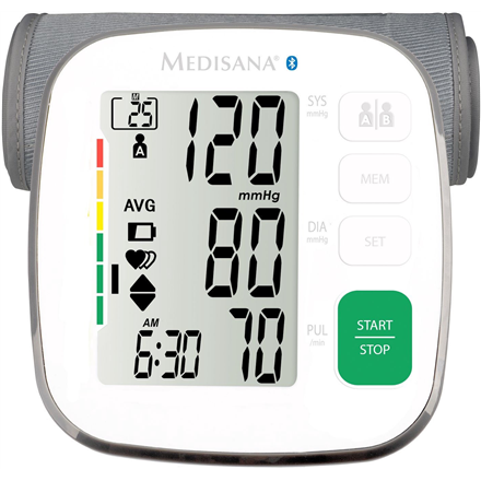 Medisana BU 540 White, Arm blood pressure monitor, Bluetooth