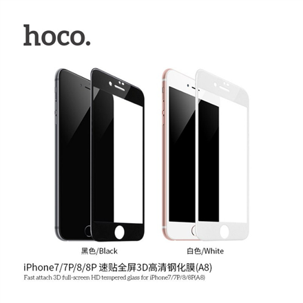 Hoco Kasa series tempered glass set for iPhone 6/6S (V9) Black