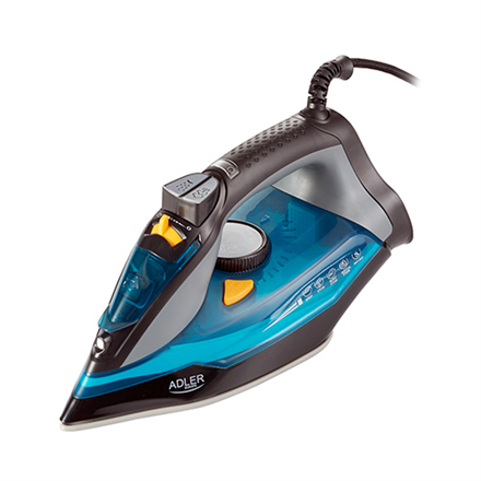 Adler Iron AD 5032 Blue/Grey, 3000 W, Steam Iron, Continuous steam 45 g/min, Steam boost performance 80 g/min, Water tank capacity 350 ml