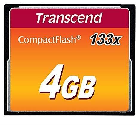 MEMORY COMPACT FLASH 4GB/SLC TS4GCF133 TRANSCEND