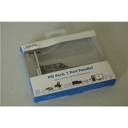 SALE OUT. Logilink PC0013, PCI interface card, 1x lpt (paralel), DAMAGED PACKAGING Logilink 1x parallel (LPT) PCI