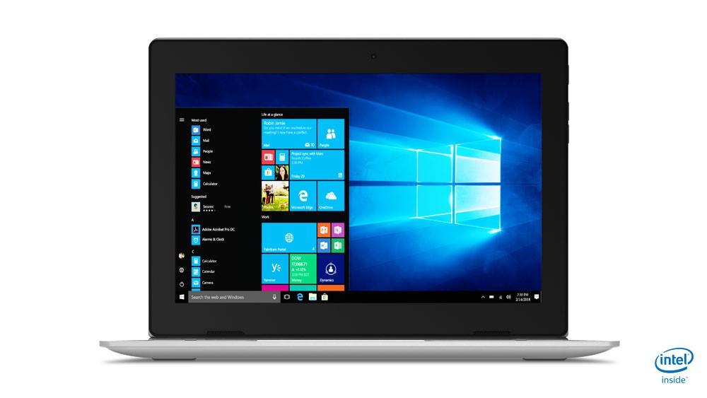 "Lenovo IdeaPad D330-10IGM Yes, Grey, 10.1 "", IPS, Touchscreen, HD, 1280 x 800, Matt, Intel Celeron, N4000, Soldered, 64 GB, Intel UHD, No Optical drive, Windows 10 Pro, 802.11ac, Bluetooth version 4.1, Keyboard language Nordic, Warranty 12 month(s),"