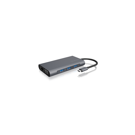 Icy Box IB-DK4040-CPD USB Type-C™ DockingStation with two video interfaces