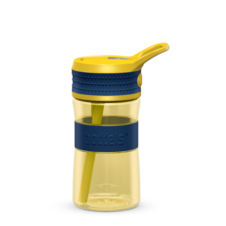 Boddels EEN Drinking bottle Bottle, Night blue/Yellow, Capacity 0.4 L, Diameter 7.5 cm, Bisphenol A (BPA) free