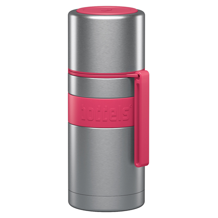 Boddels HEET Vacuum flask with cup Capacity 0.35 L, Material Stainless steel, Raspberry red