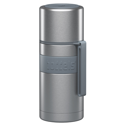 Boddels HEET Vacuum flask with cup Capacity 0.35 L, Material Stainless steel,  Light grey