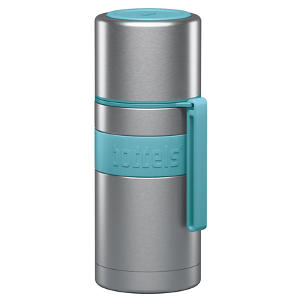 Boddels HEET Vacuum flask with cup Capacity 0.35 L, Material Stainless steel, Turquoise blue